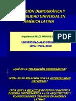 Transición Demográfica y Accesibilidad Universal en América Latina