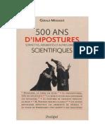 500 ans d'impostures scientifiques - Gerald Messadié.pdf