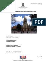 Plan Local Ambiental Chapinero 2013-2016