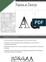!Ap_Letras, Tipos e Texto