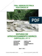 Estudio de Aprovechamiento Hidrico - Ch Huatziroki