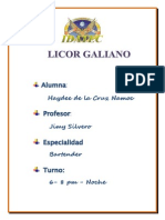 Licor Galiano