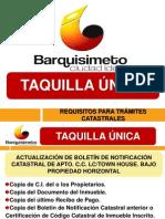 Present Taq Unica Catastro 2014