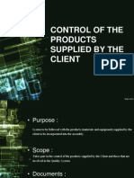 CONTROL OF THE PRODUCTS SUPPLIED BY THE CLIENT.pptx