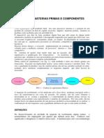 Inspeção de Materias Primas e Componentes