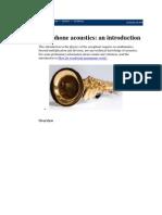 Saxophone Acoustics and Multiphonics