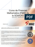 Curso de Financial Mathematics SOA 2012