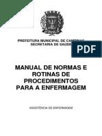Manual de Rotina e Procedimentos de Enfermagem