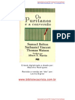 Os Puritanos e a conversão - Samuel Bolton,Nathaniel Vincent, Thomas Watson