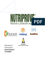 Nutriprove CIEAgrop. HORTIFRUT