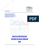 Pauta      Certificación 2009