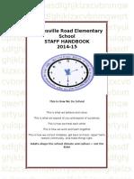sre staff handbook 2014-15