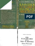 Grosseteste, Roberto - Suma de Los Ocho Libros de La _Fisica_ de Aristoteles (Summa Physicorum)