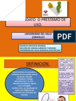 El Comodato o Prestamo de Uso.- Univalle Julio de 2014