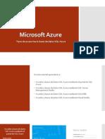 Tipos de Acceso Hacia Bases de Datos SQL Azure