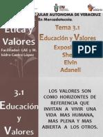 3.1 Educacion y Valores 2