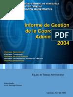 Memoria Coadmin 2004