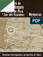 Encuentro de Arqueologia Peru Ecuador