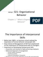 organization theory and behaviour