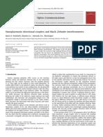 11_Nanoplasmonic Directional Couplers and Mach–Zehnder Interferometers