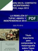 Tupac Amaru y La Independencia Del Perú_CUZCO