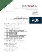 Tematica Proba 1 - Management
