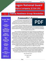 Alpha Company 3/116 FRG Newsletter AUG. 2014.