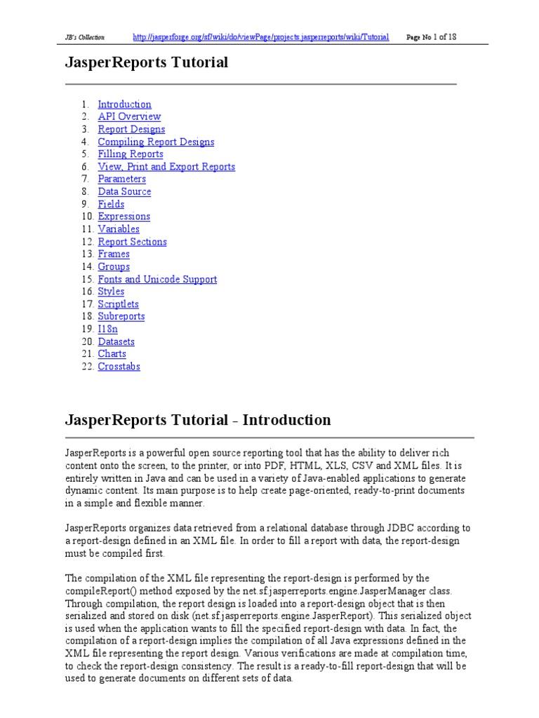 Xml tutorial pdf gallery any tutorial examples jasperreports tutorial portable document format java jasperreports tutorial portable document format java programming language baditri gallery baditri Choice Image