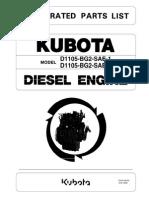 Kubota Engine D1105