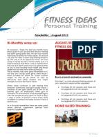 Fitness Ideas Newsletter - August 2014