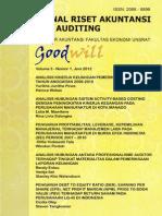 Jurnal Riset Akuntansi Dan Auditing