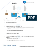 Structure Questions Archimedes Principle