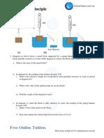 Structure Questions Archimedes Principle