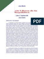 BODINO Seis Libros de La República (10p)