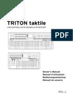 Korg Triton Taktile Owners Manual