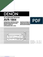 Ampli Denon Avr1804