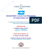 Recruitment & Selection Procedure of Scan Steels Ltd