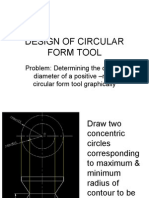 DESIGN OF CIRCULAR FORM TOOL GRAPHICAL METHOD