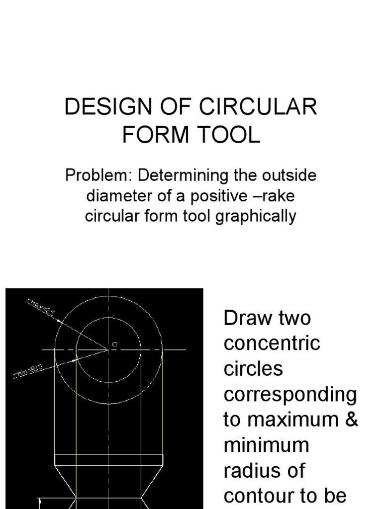 Design Of Circular Form Tool Graphical Method