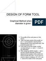 DESIGN OF circular form tool when diameter is given