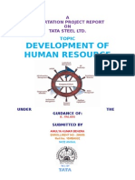 Development of Human Resource at Tata Steel