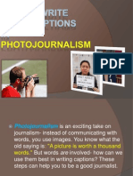 How to Write Good Captions in Photojournalism