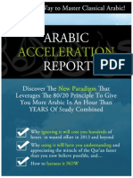 Arabic Acceleration Report