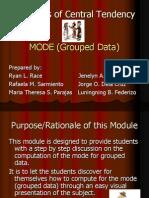 Mode (Grouped Data)