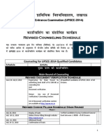 Revised Counseling Schedule 08072014