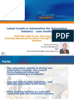 Latest Trends in Automation for Automotive Industry-Case Study