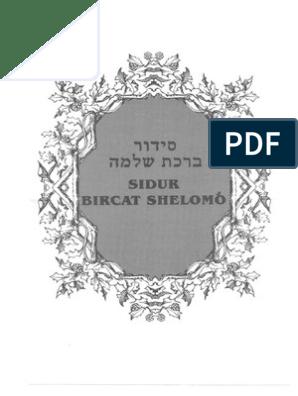 Shelomo1Leyes judíos Sidur y 163838772 Birchat rituales OkTwPXZiul