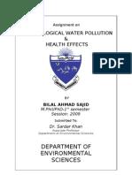 Bacteriological Water Pollution-Bilal Ahmad Sajid