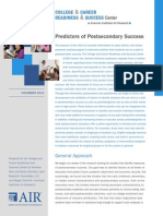 CCRS Center_Predictors of Postsecondary Success_final_0