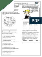 Examen Final Del Segundo Periodo de Lengua Castellana y Lectura